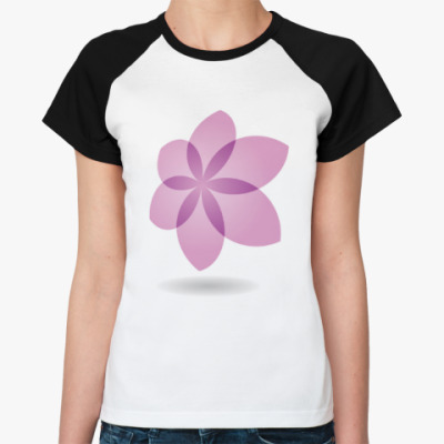 Женская футболка реглан Цветок Лотоса
