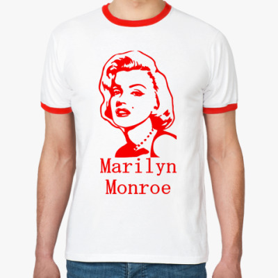 Футболка Ringer-T Marilyn Monroe