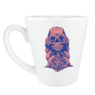 Чашка Латте Череп со щупальцами
