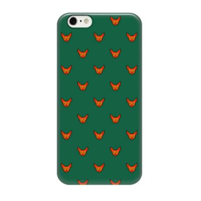 Чехол для iPhone 6/6s Pixel art: лиса