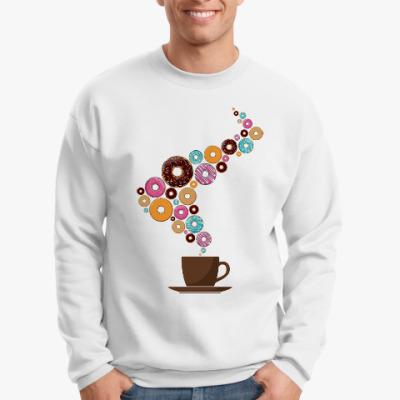 Свитшот Кофе с пончиками