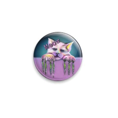 Значок 25мм Sad cat