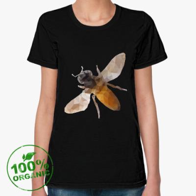 Женская футболка из органик-хлопка Пчела / Bee