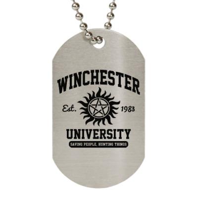 Жетон dog-tag Winchester University