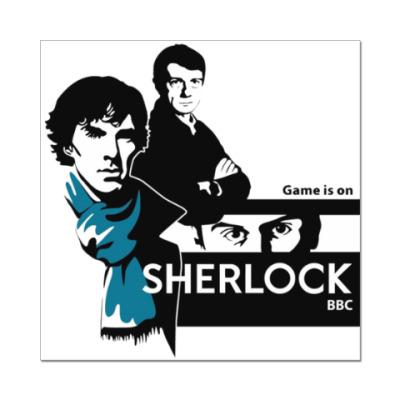 Наклейка (стикер) Шерлок BBC