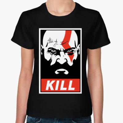 Женская футболка Кратос Kill | Kratos God of Wa