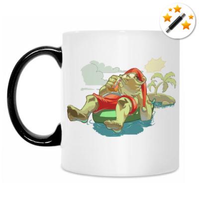 Кружка-хамелеон Santa