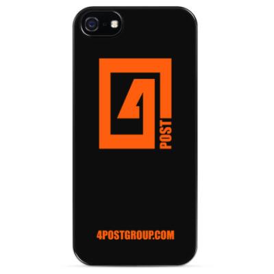Чехол для iPhone 4POST LOGO Чехол для iPhone 5/5s (черный)