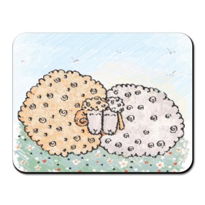 Коврик для мыши Кудрявые овечки