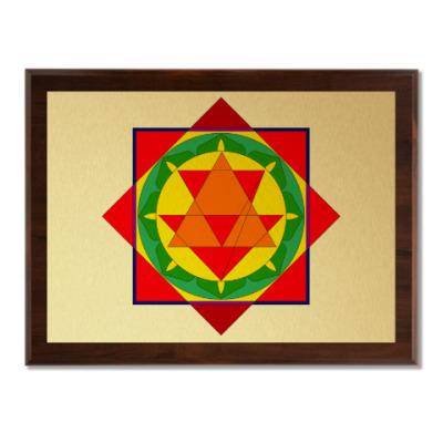 Плакетка Бала-трипура-янтра