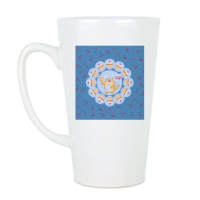 Чашка Латте кот-кондитер