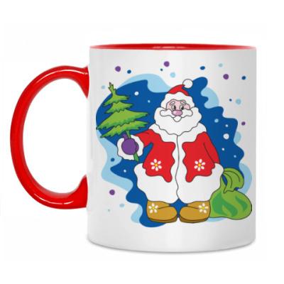 Кружка Добрый новогодний Дедушка Мороз