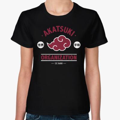 Женская футболка Naruto Akatsuki Organization