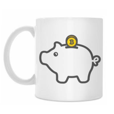 Кружка Bitcoin Pig