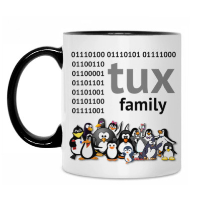Кружка Tux Family binary