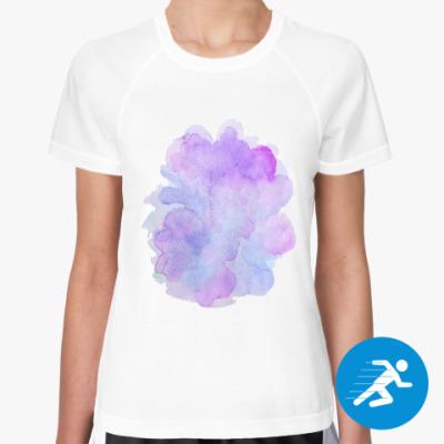 Женская спортивная футболка Мягкая абстрактная акварель