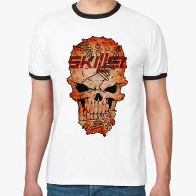 Футболка Ringer-T Skillet Skull