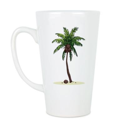 Чашка Латте Кокосовая пальма