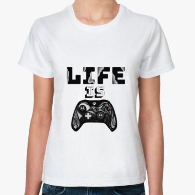 Классическая футболка Life is a game
