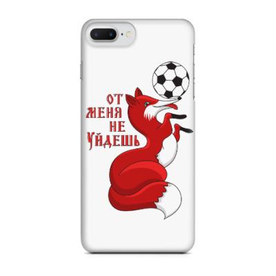 Чехол для iPhone 7 Plus Лиса с футбольным мячиком