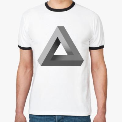 Футболка Ringer-T Невозможный Треугольник 3D