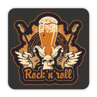 Костер (подставка под кружку) RocknRoll