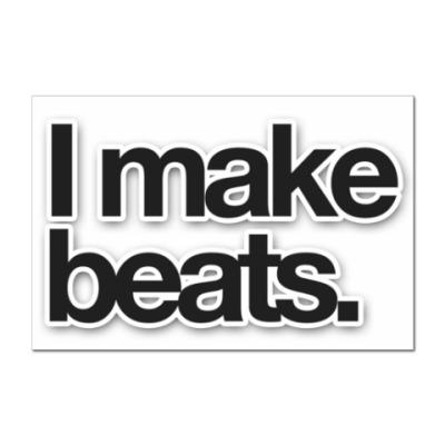Наклейка (стикер) I make beats