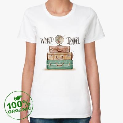 Женская футболка из органик-хлопка Для путешествий