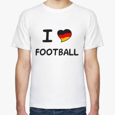 Футболка Я люблю немецкий футбол