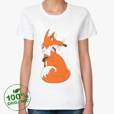 Женская футболка из органик-хлопка Fanny fox