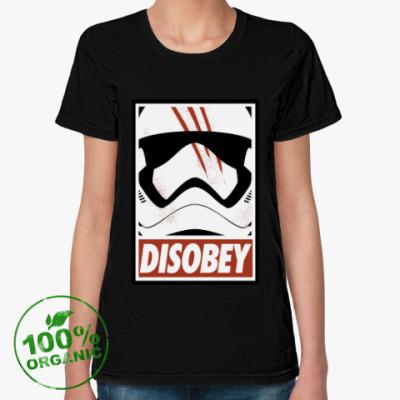 Женская футболка из органик-хлопка Star Wars: Disobey