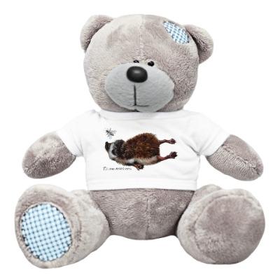 Плюшевый мишка Тедди ежик