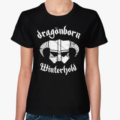 Женская футболка Skyrim . Dragonborn