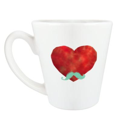 Чашка Латте Heart like a sir