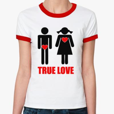 Женская футболка Ringer-T 'True Love'