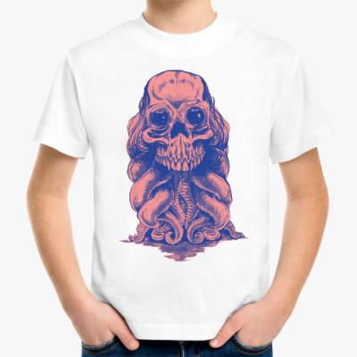 Детская футболка Череп со щупальцами