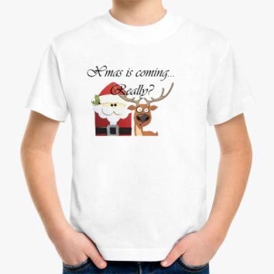 Детская футболка Рождество наступает