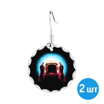 Серьги Грубый Космонавт