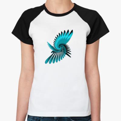 Женская футболка реглан 'Птица счастья'