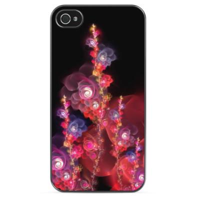 Чехол для iPhone Светящиеся гирлянды цветов