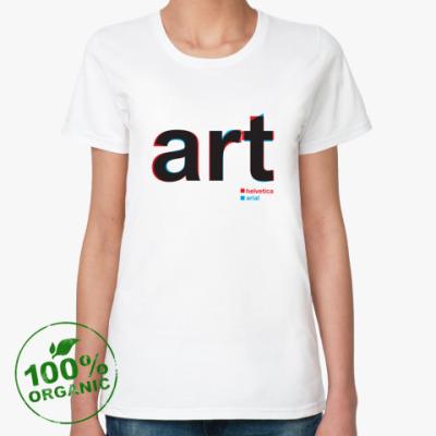 Женская футболка из органик-хлопка ART