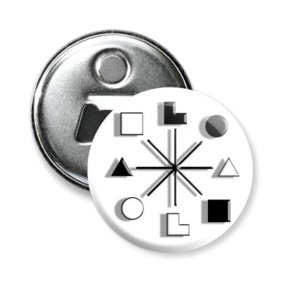 Магнит-открывашка -открывашка 58 мм Есенин