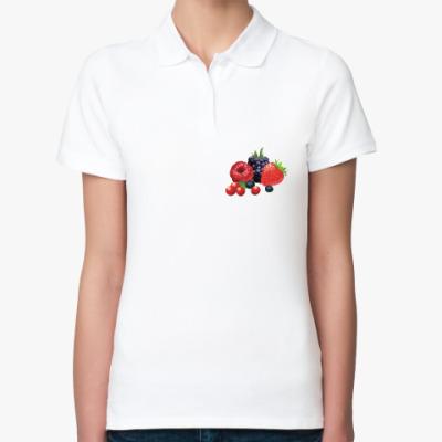 Женская рубашка поло Ягоды