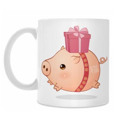 Кружка Present Pig