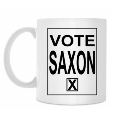 Кружка Vote Saxon! Голос Мастеру!