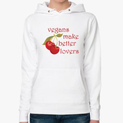 Женская толстовка худи Vegan makes better lovers