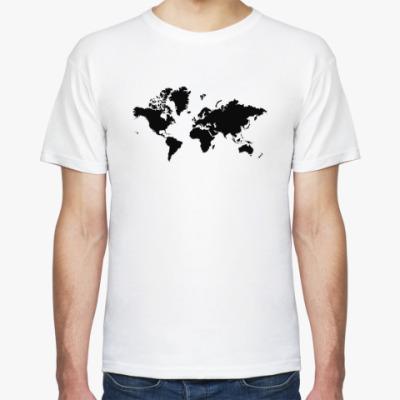 Футболка карта мира
