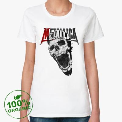 Женская футболка из органик-хлопка Metallica Skull