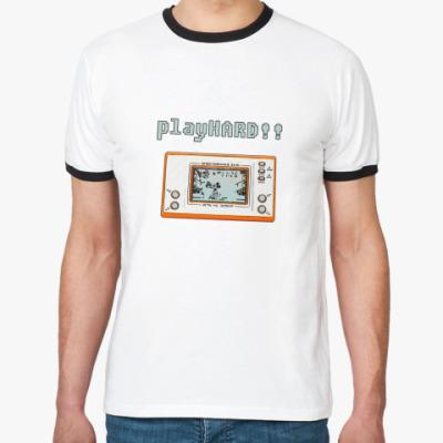 Футболка Ringer-T playHARD!!