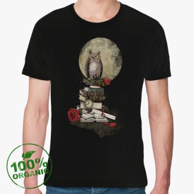 Футболка из органик-хлопка Мудрая сова и книги